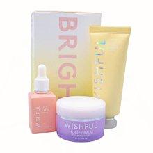 (現貨在台)Wishful Bright Set 酵素臉部去角質/蜂蜜保濕霜/玫瑰果油