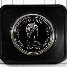 DB069 加拿大1952-1977年 登基加冕週年DOLLAR銀幣 盒裝 重約23.3g