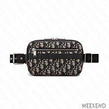 【WEEKEND】 DIOR Pouch Clutch Oblique Jacquard 胸口包 腰包 手拿包 米+黑色