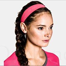 真品 Under Armour UA安德瑪寬版螢光粉紅色跑步健身瑜伽運動籃球髮圈髮帶頭帶頭箍頭巾吸汗透 愛COACH包包