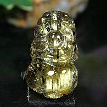 孟宸水晶 = S431 (貔貅100%天然粗版鈦晶雕刻墜)