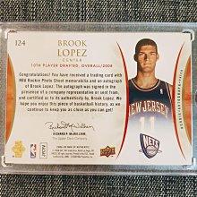 08-09 UPPER DECK 布魯克林籃網隊 BROOK LOPEZ 新人RC球衣簽名卡/299