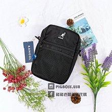 【豬豬老闆】【豬豬老闆】KANGOL 經典 Logo 標誌 袋鼠 三色 白 黑 隨身 小方包 小包 側背包 休閒 多功能