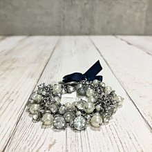 Maple麋鹿小舖 Abercrombie&Fitch * AF 水鑽珍珠緞帶設計手鍊 * ( 現貨 )
