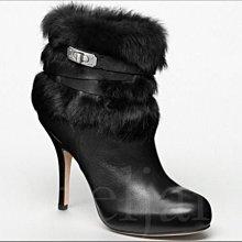 COACH Shoes  時髦 流行黑色真皮 低筒 細高跟鞋 包鞋 短筒靴 馬靴 7.5  24.5號 愛Coach包包