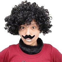爆炸頭 暴牙蘇 搞笑人物裝扮 假髮+假鬍子+暴牙 (三件套餐) 萬聖節/派對/角色扮演/變裝【P33000401】塔克