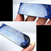 □§Disk的天然水晶§□【招財進寶】老種優質天然湛藍青金石方形大印材HW-35~全館滿千9折+超取免運~開發靈感的聖石
