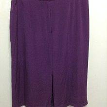 美國DIANE VON FURSTENBERG SILK ASSETS 大尺碼100%蠶絲真絲SILK 紫色前開叉長裙