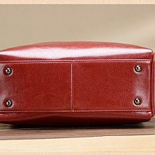 EmmsShop艾購物-歐美時尚真皮油蠟2WAY托特包/肩背包/單肩包/手提包/軟束口大容量