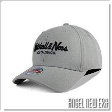 【ANGEL NEW ERA】Mitchell & Ness MN 經典排字 淺灰色 老帽 有彈性 可調式 街頭 潮流