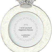 日本Ladonna 晶鑽皇冠迷你金屬水鑽小相框/ BJ09-S2-WH