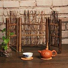 竹屏風 竹籬笆 平頭三折式 (大) 茶道用具 店面 茶桌 裝飾 拍照道具