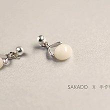 925純銀耳環-手作母乳耳釘--來料訂製