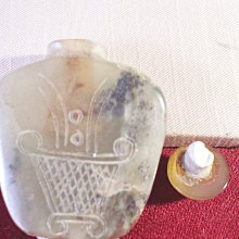 山水老玉 鼻煙壺 二手藏品 重1.195台兩 size 5x1.5x5.8cm