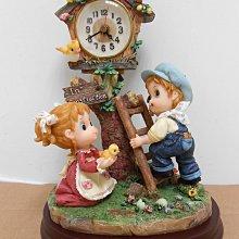 【造型時鐘】造型桌鐘/桌鐘擺飾/田園造型桌鐘(二手)