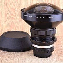 【品光攝影】新同品 Nikon Ais 8mm F2.8  全周魚眼 內建濾片 收藏級美品 寄賣品 #GX0245