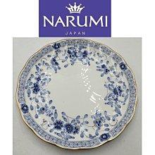 【皮老闆二店】二手真品 narumi 日本瓷器 花紋 盤子 水果盤 19.5*19.5 紅914