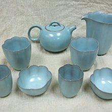 陶瓷名家《蘇保在》老款青瓷壺具組(共八件)