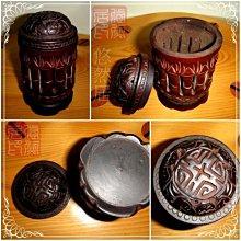 手工老竹雕 ~ 蟈蟈罐  尺寸約: 7 * 7 * 11.5 公分   ~ 老收藏品釋出衝人氣 ~