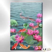 【放畫藝術】九如魚116 純手繪 油畫 直幅 多彩 暖色系 寫實 招財 求運 開運畫 客廳掛畫 事事如意 年年有餘