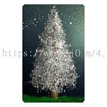 〈亮晶細沙 卡貼 貼紙〉冬天 仙境 聖誕樹 winter wonderland 貼紙 悠遊卡貼紙