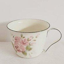 鄉村雜貨小市集*zakka 復古典雅粉色玫瑰琺瑯杯咖啡杯
