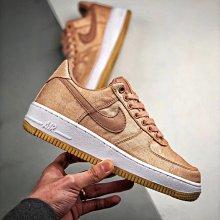 Nike Air Force 1 Low AF1 玫瑰金 粉絲綢 少女 低幫 休閒滑板鞋 CJ5290-600 女鞋