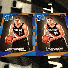17 18 Donruss - Zach Collins 2張新人RC正規卡