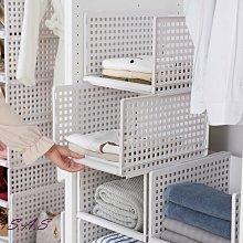 SAS 櫥櫃收納層架 可拆式衣櫃整理架 衣服收納多層可疊加隔層儲物架 置物架 廚房收納置物架【903H】