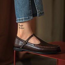 DANDT 英倫風真皮瑪莉珍布洛克單鞋(20 JUL B61854)同風格請在賣場搜尋 BLU 或 歐美鞋款