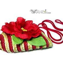 Change Fashion【羽采蝶】休閒風竹籐麻繩編織設計浪漫花朵造型拉鍊式精巧隨身包/零錢包