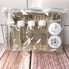 正版授權 史努比 9件組 分裝瓶 化妝品保養品容器分裝空瓶美妝材料旅行出差溫泉游泳 浴室衛浴盥洗 snoopy 生日禮物