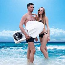 新款動力游泳浮板救生圈電動助力衝浪滑新板劃水漿板水上推進器3新6V