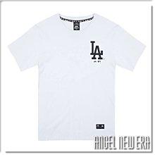 【ANGEL NEW ERA】Majestic MLB 短T LA 洛杉磯 道奇 象牙白 素面 潮流 穿搭 情侶款