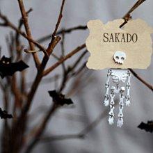 阪堂SAKADO手工耳釘--骷髏