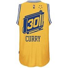 adidas NBA Stephen Curry 金州 勇士隊 復古 球衣 美版 S號