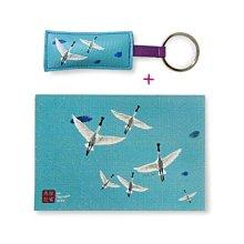 鑰匙圈+明信片套組*畫話臺南系列-黑面琵鷺*不哭鳥