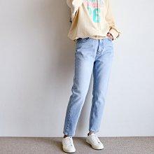 girlmonster 正韓 顯瘦合身BAGGY牛仔褲 (灰色 淺藍 深藍)【A0664】