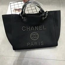 ☆╮PRiNcEsS-Mine╭☆小香風珍珠款托特經典鏈條帆布包╭☆ 香奈兒 Chanel款式手提包 肩背包