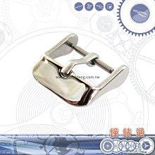 【鐘錶通】ㄇ字扣 - 銀色亮面 / 皮帶手錶專用錶扣 12 - 24 mm 可選擇 / 單售