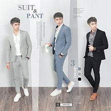。SW。【K31191】正韓KE韓國製 修身顯瘦 質感琥珀扣 彈性萊卡西裝布 窄版雅痞 藍灰黑 素面成套西裝 英倫GD