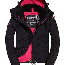 第八代 黑桃紅 極度乾燥 Superdry Arctic 經典款 三排拉鍊 風衣 外套 防風保暖刷毛 黑桃紅 內口袋