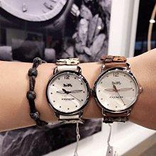 COACH DELENCEY 雛菊花朵皮革錶帶女款手錶