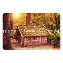 〈亮晶細沙 卡貼 貼紙〉森林 木屋 仙境  貼紙 悠遊卡貼紙