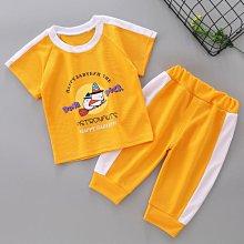 兒童短袖套裝男童女童夏季兩件套新款中小童寶寶七分褲洋氣潮