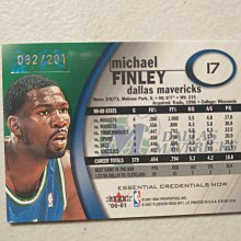2000-01 E-X Essential Credentials #17 Michael Finley