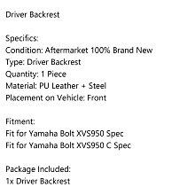 降價《極限超快感》Yamaha Bolt XVS950 Spec/C Spec 司機靠背