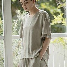 日本 21春夏 清涼絲混亞麻材質 柔軟寬袖上衣 (現貨款超特價)