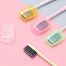 透明便攜式牙刷頭保護套 旅行牙刷保護殼 5入裝【庫奇小舖】【S575】