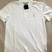 Brooks Brothers 1818brooks brothers男生短袖網眼polo衫 美版藍標 M號 全新正品 現貨在台 白色 金色刺繡logo圖案